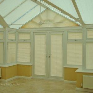 Triangular Windows - pleated-blinds